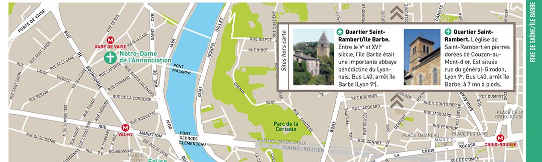 Carte guide touristique Lyon