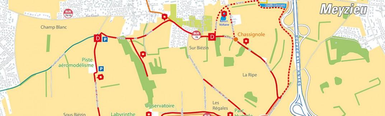 Sentier de découverte du Biezin et du Grand stade deLyon